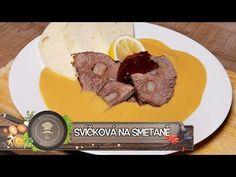 Svíčková na smetaně - Národní poklad - YouTube Eastern European Recipes, Steak, Pork, Beef, Cooking, Youtube, Daisy, Kitchens, Drinks