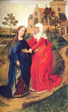 Rogier van der Weyden - Visitation of Mary, 1440 –1445