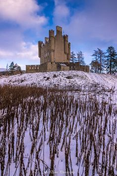 Unusually shaped Braemar Castle in Aberdeenshire, Scotland