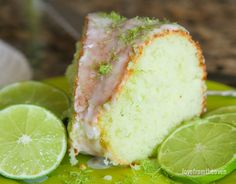 This delicious and easy lime cake can be whipped up in no time. A fantastic spring or summer dessert that everyone will love. Lime Recipes, Easy Cake Recipes, Donut Recipes, Frosting Recipes, Bread Recipes, Sweet Recipes, Lime Bundt Cake Recipe, Lime Desserts, Summer Dessert Recipes