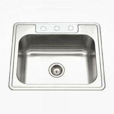 "Ruvati Rvh7100 Undermount 16 Gauge 23"" Kitchen Sink Single Bowl At Captivating Menards Kitchen Sinks 2018"