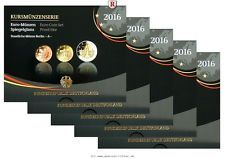 RITTER BRD, Euro Kursmünzensatz KMS 2016 ADFGJ komplett, PP #coins