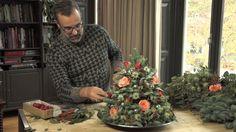 Geurende minikerstboom voor op tafel