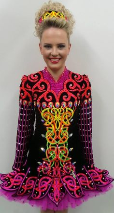 Doire Dress Designs. Interesting twist of color on jacket.
