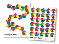 pentagon game for kids Montessori Color, Montessori Math, Preschool Learning Activities, Infant Activities, Preschool Crafts, Hidden Picture Puzzles, Toddler Birthday Gifts, Color Unit, Grande Section