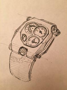 """Sketch me a watch"" Urwerk By Nicolas Lafargue Dream Catcher, Sketch, The Originals, Tattoos, Sketch Drawing, Dream Catchers, Draw, Irezumi, Tattoo"