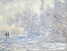 Claude Monet (French, 1840-1926), Le givre à Giverny [The frost at Giverny], 1885. Oil on canvas