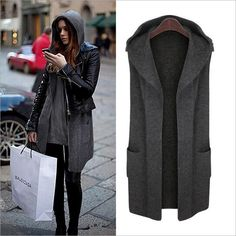 Large Size Autumn Winter Women Cardigans Sweaters 2017 New Casual Loose Hooded Sweater Vest Coat Plus Size Women Winter Clothing-in Cardigans from Women's Clothing & Accessories on Aliexpress.com | Alibaba Group