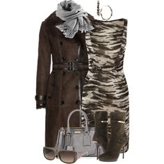A fashion look from January 2014 featuring Lanvin dresses, Burberry coats and Burberry boots. Browse and shop related looks.