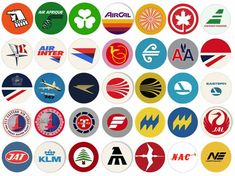 Retro Airline Fabric Drink Coasters - Gate 72 Airport Film, Air Jamaica, Cathay Pacific, Fabric Coasters, Air New Zealand, British Airways, Air France, Drink Coasters, Africa