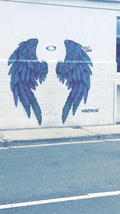Angel Wings Painting, Angel Wings Wall Art, Graffiti Wall Art, Street Art Graffiti, Sidewalk Chalk Art, Interactive Art, Picsart Background, Chalk Drawings, Image Hd
