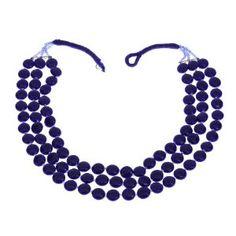 Collier bleu en perles - Bijou fantaisie - Idée cadeau noël: ShalinCraft: Amazon.fr: Bijoux