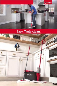 Remove over 99% of bacteria from your floors with just water. Get a true clean made easy. Diy Kitchen Cabinets, Kitchen Decor, Storage Cabinets, Kitchen Hacks, Diy Wall Decor, Diy Home Decor, Furniture Makeover, Diy Furniture, Diy Magazine Holder
