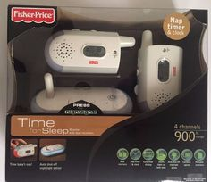FISHER PRICE Time for Sleep Monitor with dual receivers Nap Timer & Clock…