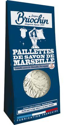 Paillettes de savon de Marseille, produit d'entretien Le Briochin