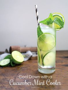 TGIF! This #cucumber #mint #cooler is perfect for poolside sipping.