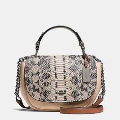 36456debaed8 Coach Nomad Top Handle Crossbody in Colorblock Exotic Embossed Glovetanned  Leather Michael Kors Bag