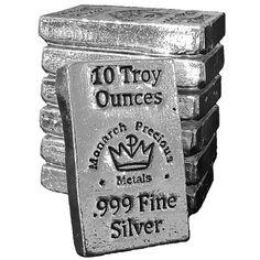 10 oz Monarch Hand Poured Stacker Silver Bars from JM Bullion™ Bullion Coins, Silver Bullion, Silver Investing, Human Trafficking, All That Glitters, Silver Bars, Precious Metals, Chart, Cedar City