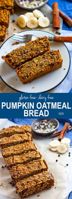 Pumpkin is so heavenly to bake with! This Gluten Free Pumpkin Oatmeal Bread is great for holidays and you can add in any fixins! Cranberry, chocolate chips, you name it! Ready in 30 minutes and with simple ingredients and dairy free option. www.cottercrunch.com