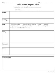 Guided reading mini lesson and a template for a guided for Interactive read aloud lesson plan template