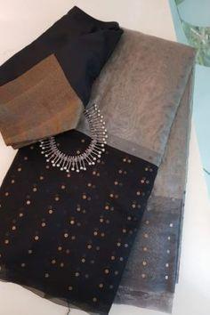 Cotton Saree Blouse Designs, Fancy Blouse Designs, Bridal Blouse Designs, Half Saree Lehenga, Anarkali, Sari, Sarees For Girls, Kota Sarees, Hand Work Blouse Design
