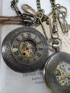 Vintage Bronze STEAMPUNK Dual Display Pocket WATCH - Rear Mechanical Movement Steampunk Fashion, Pocket Watch, Bronze, Display, Watches, Ebay, Accessories, Vintage, Style