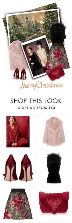 """""""Merry Christmas"""" by tsma ❤ liked on Polyvore featuring Miiyu, Miu Miu, Topshop, Boutique Moschino, Dolce&Gabbana and Elena Ghisellini"""