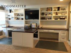 Custom Built In Desk with adjustable shelves
