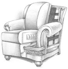 Cutaway Drawing of a well-padded chair How to buy a great sofa.