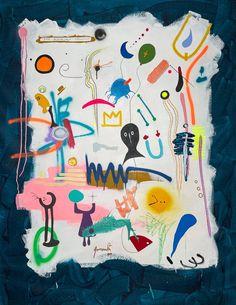 Acrylic Spray Paint, Canvas Size, Canvas Art, Saatchi Art, Artwork Online, Joan Miro, Original Art For Sale, Marker Art, Blue Moon