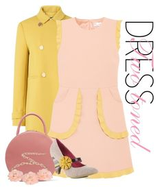 """Pink & yellow"" by joyfulmum ❤ liked on Polyvore featuring L.K.Bennett, RED Valentino, Mansur Gavriel, Poetic Licence and Dettagli"