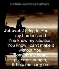 Throw your Burden on Jehovah...Jehovah cares for us all...