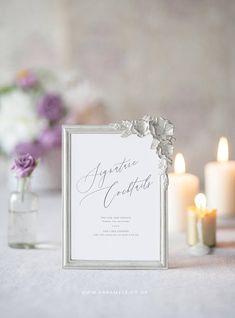 Signature Cocktails Sign  Wedding Reception Sign  digital