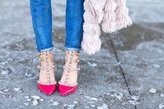 Hot pink Rockstud Valentinos..