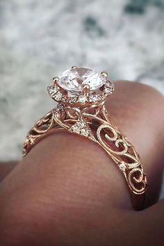 Wedding Rings Simple, Beautiful Wedding Rings, Wedding Rings Solitaire, Beautiful Engagement Rings, Wedding Rings Vintage, Engagement Ring Styles, Vintage Engagement Rings, Unique Rings, Diamond Engagement Rings