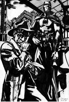 Batman and The Spirit by John Paul Leon *