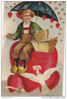 """Valentine´s Day: Umbrella & Dutch boy """"To my Valentine"""" , 00-10s - Delcampe.com"""