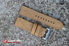 Lum-Tec Watches 22Mm Brunswick Brown Leather Strap - (Buckle Not Included)