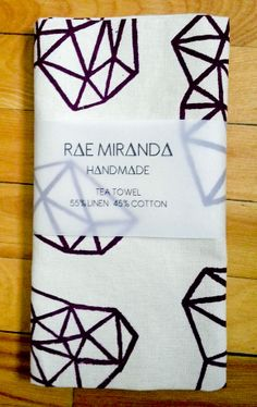by Rae Miranda Textile Fiber Art, Tea Towels, Arts And Crafts, Textiles, Prints, Cotton, Handmade, Tejidos, Gift Crafts