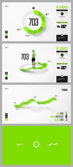 Infographics , UI Design et Web Design - Nike Fuel Design Exploration Interaktives Design, Design Nike, News Web Design, Flat Design, Layout Design, Web Responsive, Ui Web, Gui Interface, User Interface Design