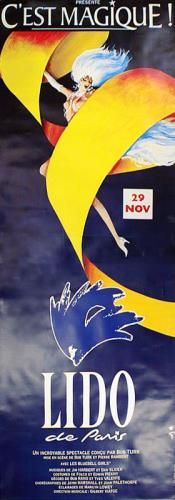 """French Posters """"Lido Blue""""- Southwest Gallery: Not Just Southwest Art."""