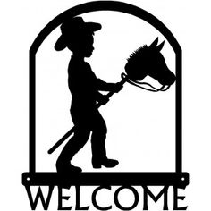 Equestrian Gifts Metal Welcome Sign, Stick Horses, Equestrian Gifts, Cowboy Theme, Silhouette Images, Hobby Horse, Metal Art, Bing Images, Pony