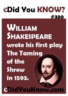 an analysis of william shakespeares the taming of the shrew Raucous fun the taming of the shrew by william shakespeare will have you laughing from the beginning of the first act all the way through to the last word spoken we are entertained by battles of.