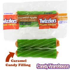Or maybe you want to stand out from the rest of the block with some tasty Halloween candy the kids might not have tried before?  Check out these crazy Twizzlers Candy Apples, apple flavored twists filled with caramel: http://www.candywarehouse.com/products/twizzlers-caramel-apple-filled-licorice-twists-20-piece-bag/
