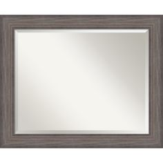 Country Barnwood Wall Mirror - Large 33 x 27-inch: Overstock.com