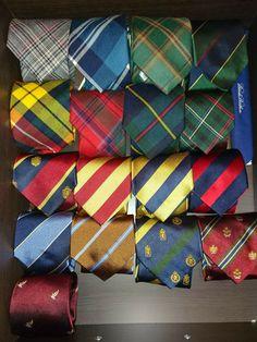 Ties in my wardrobe
