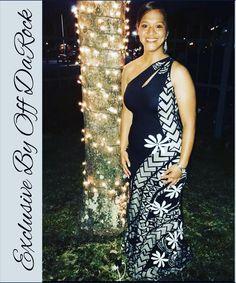The beautiful Rina rocking her Exclusive By Offdarock customize elei dress. Bring in the holiday spirit looking gorgeous in a… Island Wedding Dresses, Crystal Wedding Dresses, Island Style Clothing, Clothing Styles, Island Outfit, Island Wear, Samoan Women, Samoan Dress, Hawaiian Fashion