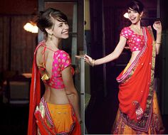 Kalki Koechlin! The fresh, young and vivacious face of Bollywood! Can anybody sport this lehenga in a better way than her?