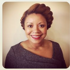 Tamika's, one half of Natural Resources Salon, flat twist hairstyle #naturalhair #protectivestyle