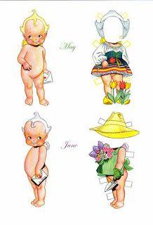Bonecas de Papel: Anjinhos